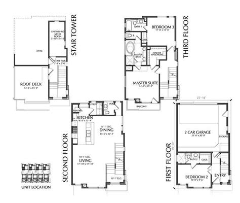 4 story house plans small townhouse floor plans for sale