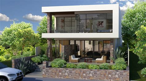 house lots modern house plans for narrow sloping lots modern house