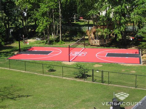 backyard court triyae build tennis court in backyard various