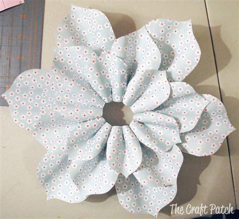 paper flower craft tutorial the craft patch paper flower tutorial