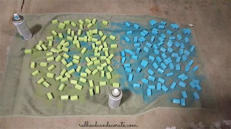 spray paint xps foam faux birthday cake can decorate