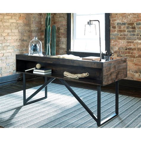 modern rustic desk modern rustic industrial home office desk with steel base