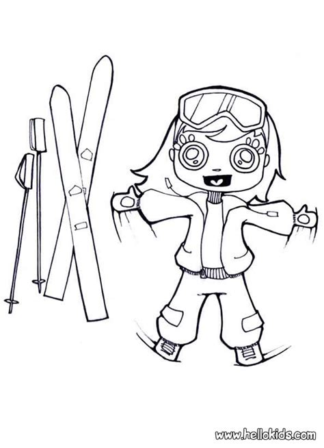 with skis coloring pages hellokids com