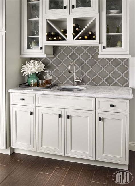 Kitchen Backsplash Ideas marble quatrefoil tile pattern backsplash mahaffey tile