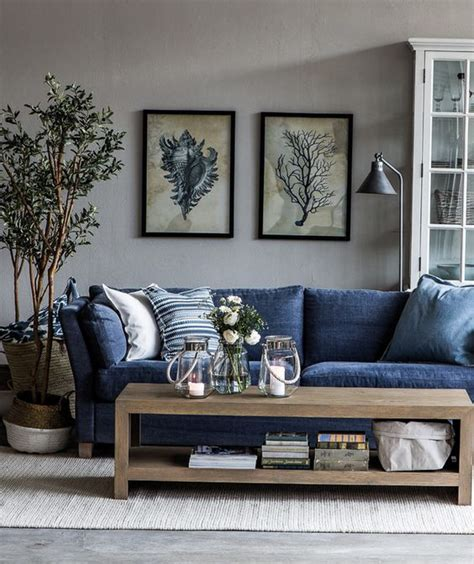 blue couches living rooms i want a blue jean furniture i