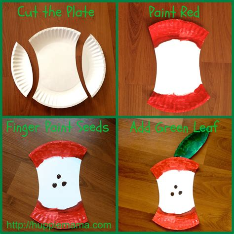 paper plate food crafts paper plate apple craft carrie