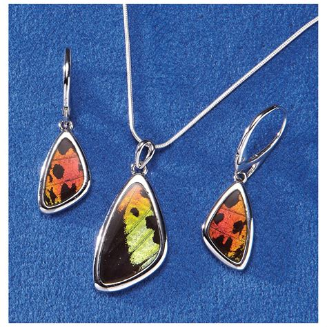 how to make butterfly wing jewelry butterfly wing necklace 230773 jewelry at sportsman s guide