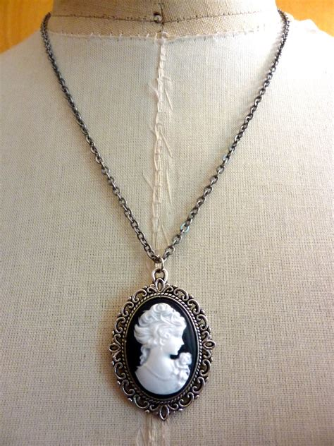how to make cameo jewelry portrait cameo pendant silver necklace by