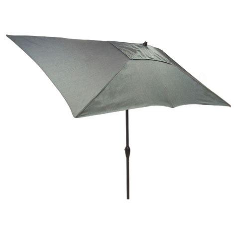 4 ft patio umbrella hton bay 10 ft x 6 ft aluminum solar patio umbrella