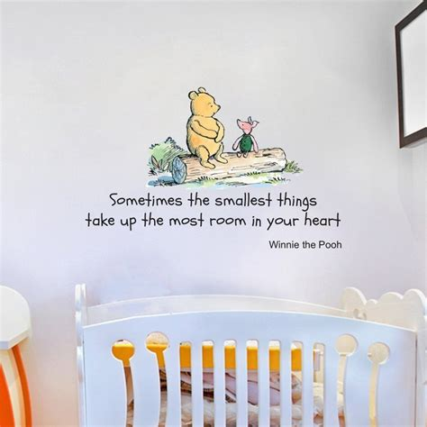 large disney wall stickers disney winnie the pooh quote large wall sticker decal