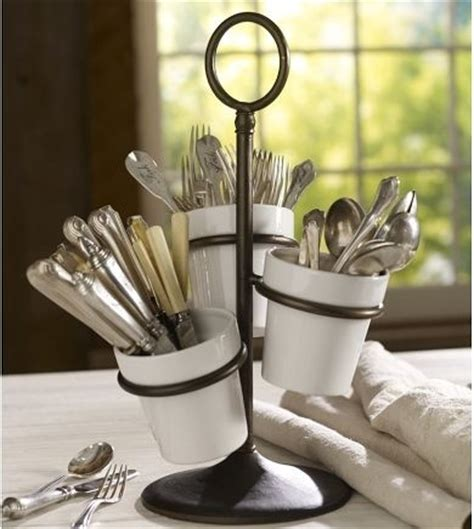 silverware rubber st utensil caddy traditional by pottery barn
