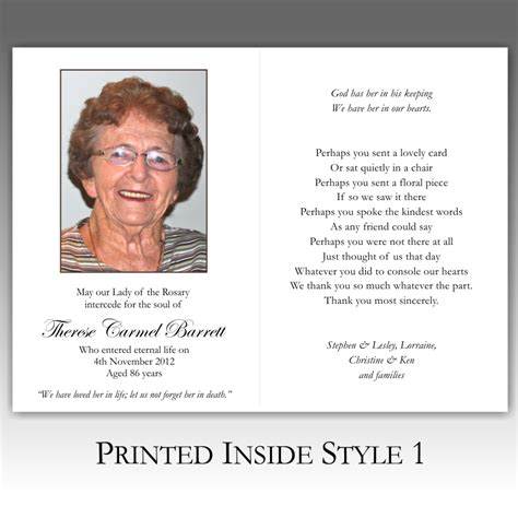 how to make funeral cards memorial card quotes for funerals quotesgram