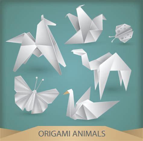 animal origami various origami animals design vector material 05 vector