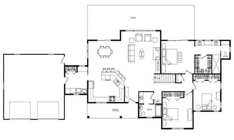 ranch open floor plan design open concept ranch floor plans ranch log home floor plans