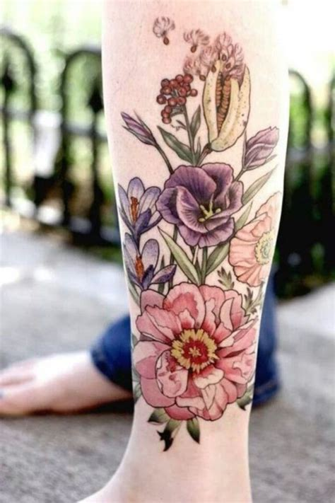 flower garden tattoos 101 feminine flower designs for