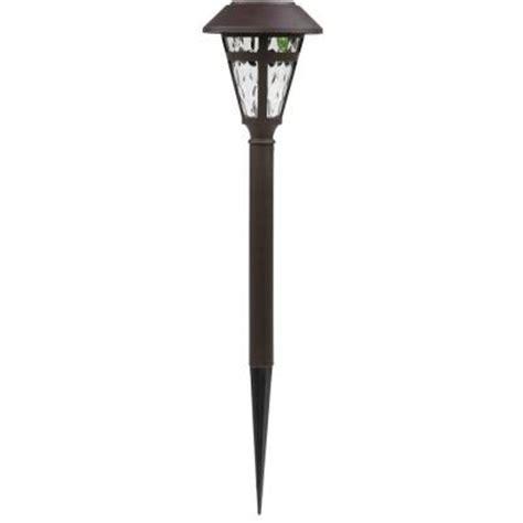 solar light home depot bronze solar led cage pathway light set 6 pack nxt 1903p