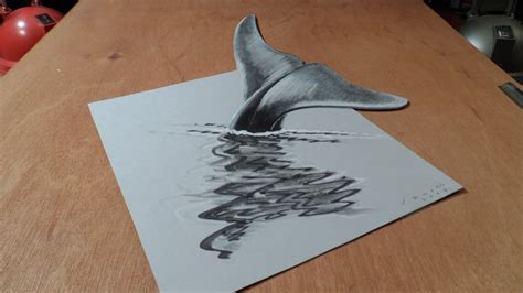 3d drafting 3d drawing blue whale how to draw 3d whale