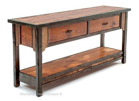 western sofa table barn wood sofa table western sofa table ranch furniture