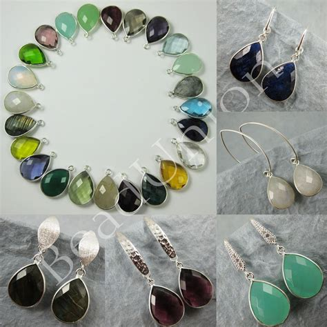 gemstone jewelry kits gemstone pendant and earwire earring kit solid sterling