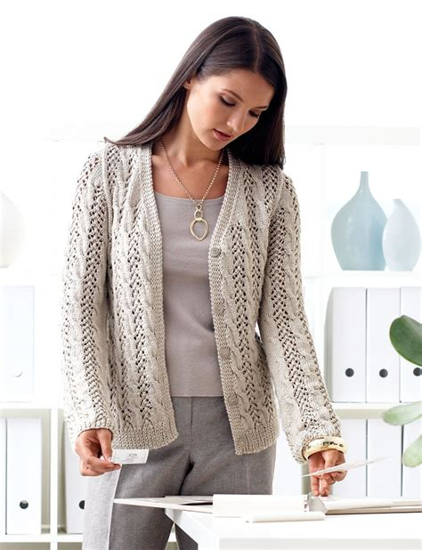 patons free knitting patterns cardigans lace and cable cardigan in patons silk bamboo knitting