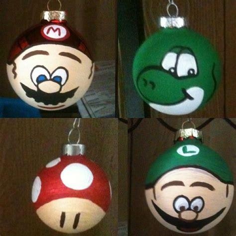 mario and luigi ornaments mario tree ornaments i made mario