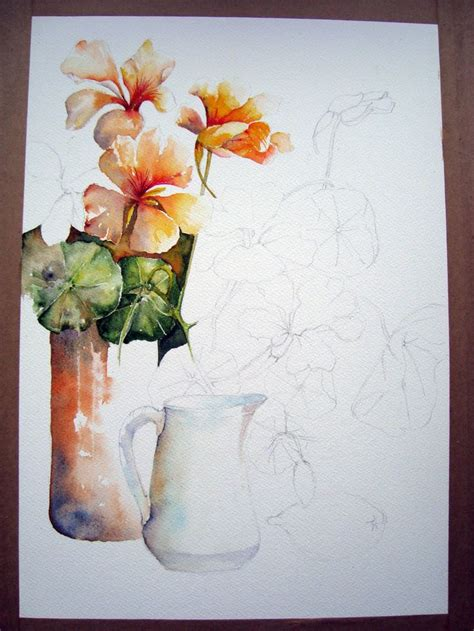 painting lessons flowers 1435 best watercolor flowers images on