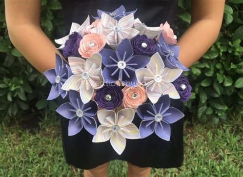 origami kusudama flower bouquet new item shabby chic paper flower bouquet kusudama