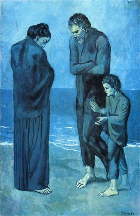 Picasso The Tragedy 1903 From My Desk