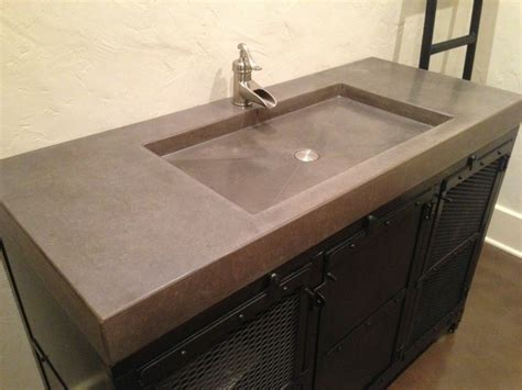 Concrete Vanity Top by Concrete Counter Tops Contemporary Vanity Tops And