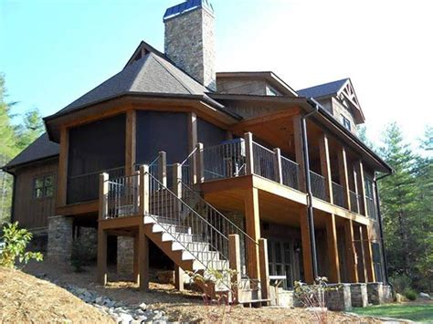 walkout basement 4 bedroom rustic house plan with porches ridge cottage