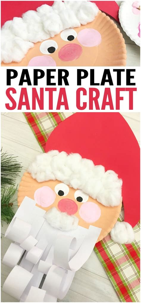 paper plate santa craft jolly santa paper plate craft easy peasy and