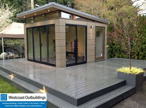 Outdoor Bench With Storage Plans by Prefab Workout Room West Vancouver Modern Shed