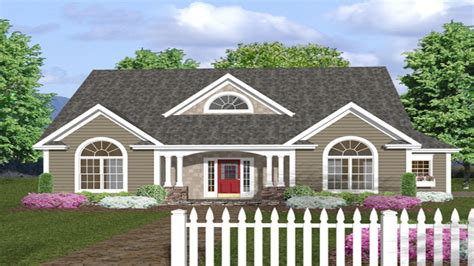 one story house plans with porch front view house plans 1 story escortsea