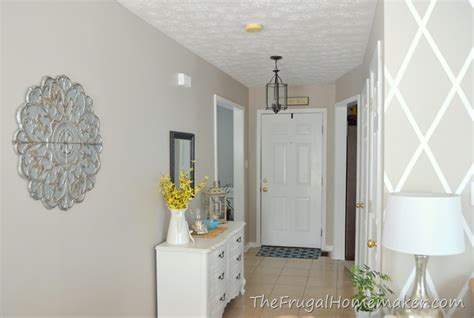 behr paint color wheat bread entryway before and after beige to greige with behr paint