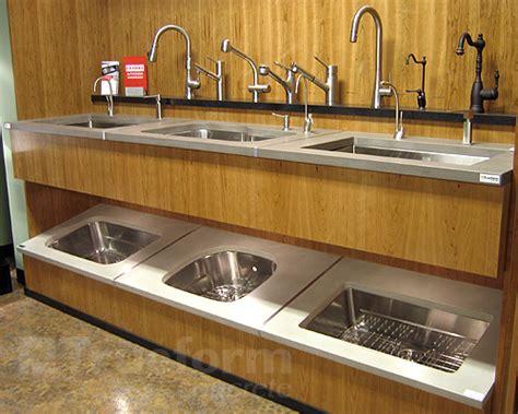 kitchen sink displays trueform concrete is featured in karl s appliance new