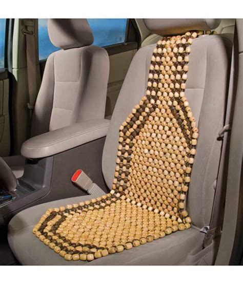 car wooden bead seat acupressure car wooden seat bead price at flipkart snapdeal