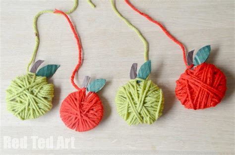 easy yarn crafts for easy apple garland craft for ted s