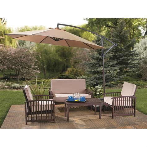 patio cantilever umbrella castlecreek 10 cantilever patio umbrella 234178 patio