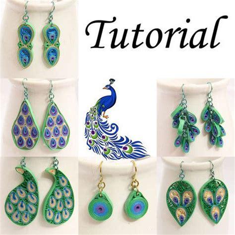quilled jewelry tutorials step by step tutoriel pdf pour papier quilled peacock bijoux boucles