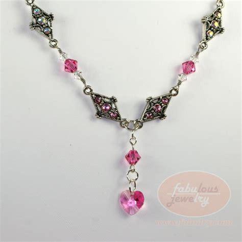 how to make swarovski jewelry pink swarovski necklace by fabulry
