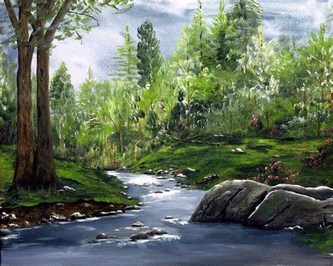 acrylic painting landscape acrylic painted landscape landscape painting mountain