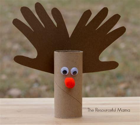 reindeer paper crafts toilet paper roll reindeer kid craft the resourceful