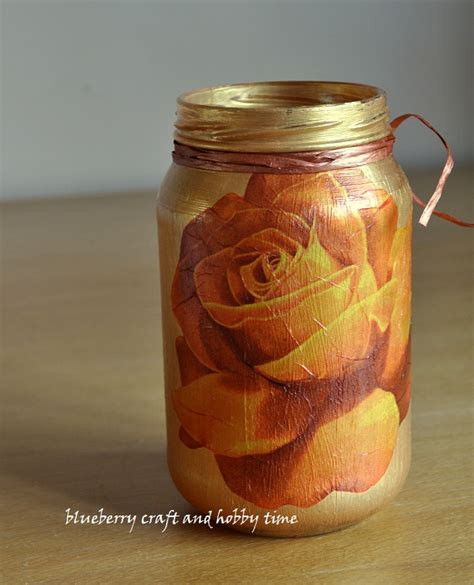 decoupage on glass jars blueberry craft and hobby time decoupage glass jar tutorial