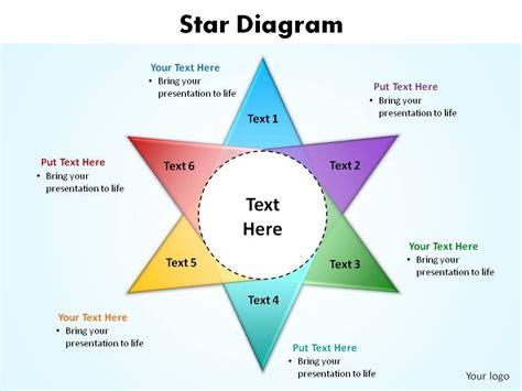 star diagram slides presentation diagrams templates