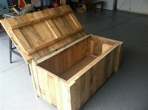 diy woodworking ideas diy wooden pallet storage box plans pallet wood projects