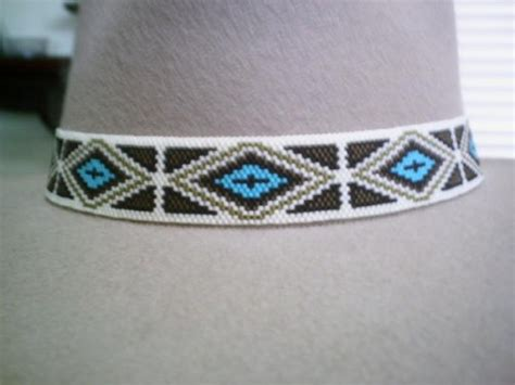 beaded hat band patterns american style beaded hat band peyote beaded