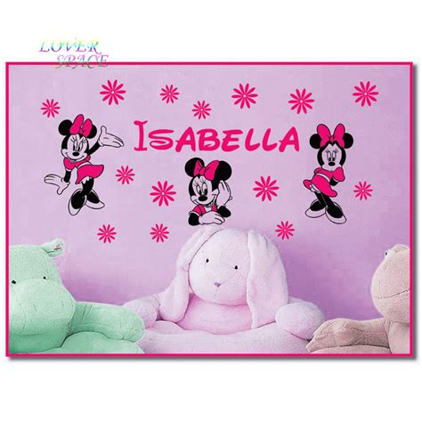 custom name minnie mouse vinyl wall decals stickers art