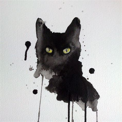 black cat painting designs 17 best ideas about watercolor cat on black