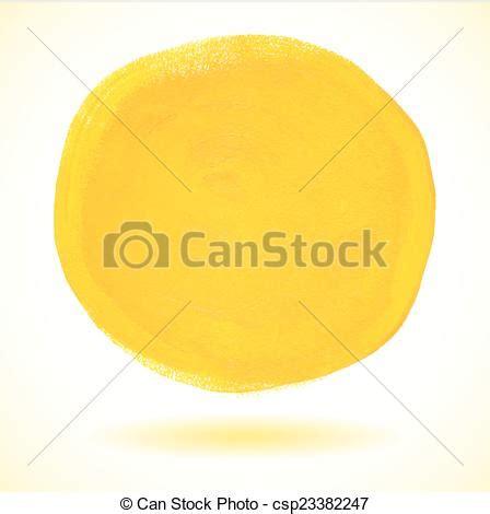 acrylic paint clipart eps vector of yellow acrylic paint vector circle