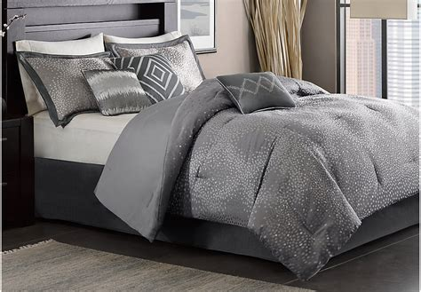 gray and brown comforter sets jaylin gray 7 pc comforter set linens gray